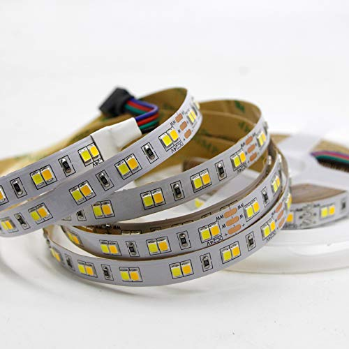 Preisvergleich Produktbild Led Bänder 5M Doppelfarbe Cri> 95 Cct Dimmbares Led-Streifenlicht 24 V Dc Ww Cw Farbtemperatur Einstellbares Flexibles Led-Band