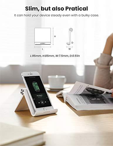 UGREEN Handy Ständer Tisch Handy Halter Handyhalterung Tisch Aufsteller tragbarer Handyständer kompatibel mit iPhone 11 Pro Max XS, Galaxy S20 S10, Huawei P30 Pro bis zu 7,9 Zoll (Weiß)