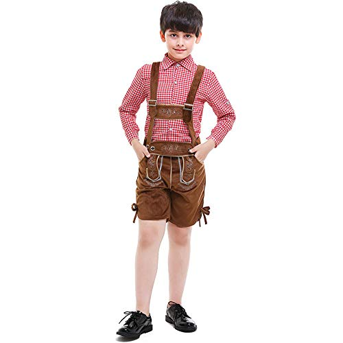 Carry Me Kostüm Jungen Oktoberfest Baumwolle Kaschmir Leder Lederhosen Kostüm Für Kinder Party Cosplay Kellner Bauer Spielkostüme Größe S-XXL S.