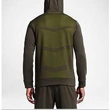 Men's Therma-Sphere Pullover Training Hoodie, Cargo Khaki/Volt 644308-326 - Large