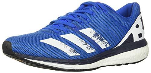 adidas Men's Adizero Boston 8 M Athletic Shoe, Glow Blue/Core White/Trace Blue, 6.5 M US
