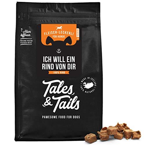 Tales and Tails Trainingsleckerli I Sorte: Rind I 100% Rind I Monoprotein I nur 1 Zutat I getreidefrei I zuckerfrei I 90g I hohe Akzeptanz