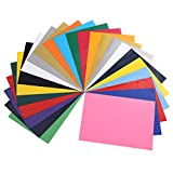 Caudblor Lámina para plóter de vinilo de transferencia, 29,7 x 21 cm, con pinzas para codos, papel de transferencia, carteles de cricut o hierro doméstico en camisetas y telas (PVC de 24 colores)