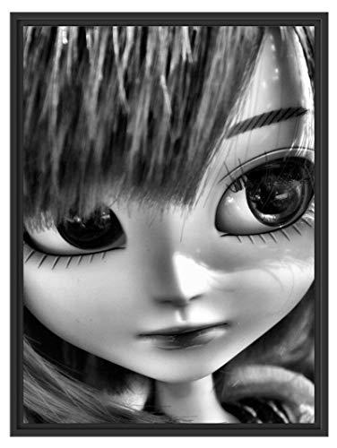 Picati Pullip-poepje op zomerweide in schaduwvoegen fotolijst | kunstdruk op hoogwaardig galeriekarton | hoogwaardige afbeelding op canvas alternatief 80x60