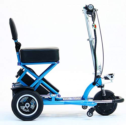 Enhance Mobility - Triaxe Sport Portable Folding Scooter - 3-Wheel - Blue