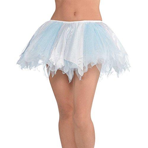 Yummy Bee Tutu Falda Reyna de Hielo Mujer - Brillante Azul Hielo Blanco Disfraz Tutu - Adulto Talla 36 38 40 42