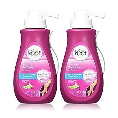 Veet Gel Hair Removal Cream Sensitive, 13.5 Ounce (2 Pack)