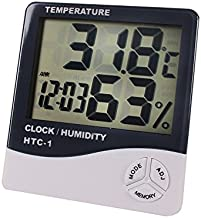 Saiyam Digital Thermometer Hygrometer Electronic Temperature Humidity Meter Weather Station Indoor Outdoor Tester Alarm Clock