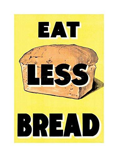 Wee Blauwe Coo Oorlog Tweede Wereldoorlog UK Eet Minder Brood Loaf Ratie Voedsel Foto Omlijst Muur Art Print