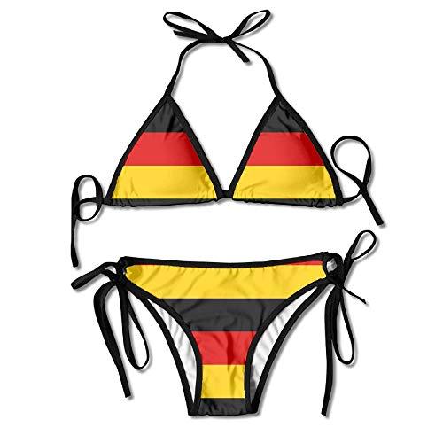 Nifdhkw Women's Bikini German Flag Printing Bathing Suit