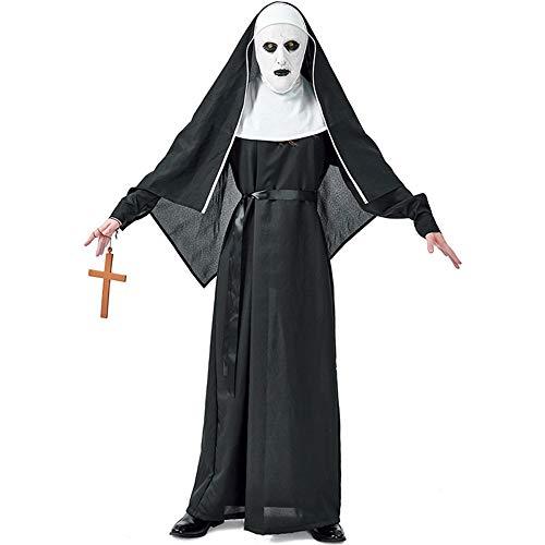 QWWR Costume di Halloween Horror Monastery Ghost Sister Devil Nun Sex Suit Male Separate Cross S