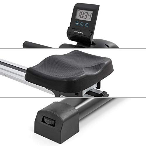 Capital Sports Stream M1 Magnetrudermaschine Rudergerät Rowing Machine, hocheffizientes Training, 8-stufiger Magnetwiderstand, 105 cm Lange Aluminium-Gleitbahn, schwarz - 5
