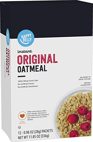 Amazon Brand - Happy Belly Instant Oatmeal,...