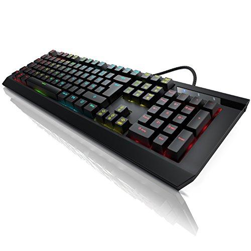 Titanwolf - mechanische Gaming Tastatur Imperial - Mechanical Keyboard - Anti-Ghosting - QWERTZ-Layout DE Deutsch - RGB LED-Hintergrundbeleuchtung 19 Lichtmodi Benutzerdefinierter Beleuchtungsmodus