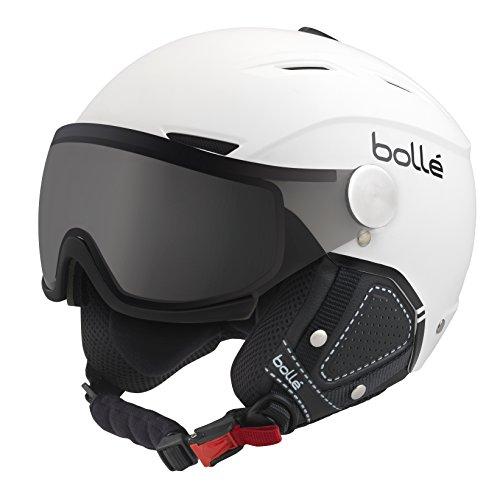 Bolle Backline Visor Premium with 1 Photochromic Silver Visor Ski Helmet, Soft White/Black, 56-58cm