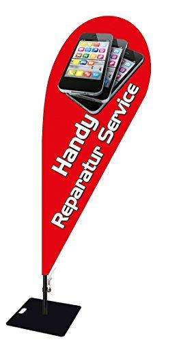 Beachvlag mobiele telefoon reparatie -ca. 240 cm hoog-