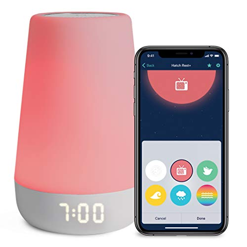 Hatch Rest+ Baby Sound Machine, Night Light, Time-to-Rise Plus Audio Monitor, White Noise Soother, Toddler Sleep Trainer, Kids Alarm Clock, Nightlight