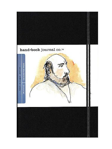 Hand Book Journal Co. Travelogue Drawing Journals 5 1/2 in. x 8 1/4 in. portrait ivory black [PACK OF 2 ]