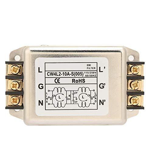 Línea de alimentación monofásica de polo único/bipolar de alto rendimiento Terminal de filtro EMI supresor de ruido