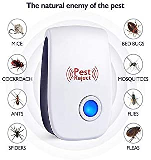 Xapper 2019 Upgraded Ultrasonic Pest Repeller Plug in Pest Control, Electronic Plug-in Repellent Ant, Insect, Rodent, Spider, Mosquito, Mouse, Rats, Roaches, Fleas, Flies, Humans Pets Safe (6 Packs)
