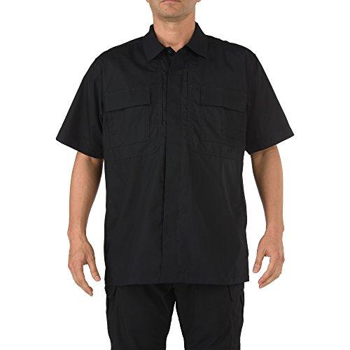 5.11 Tactical T-Shirt à Manches Courtes TDU en Tissu Respirant et traité, Style 71339T Taille XXXL Noir