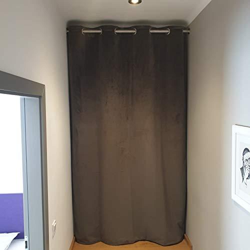 Götz Gardinen Maß-Konfektion Thermovorhang Haustür Kälteschutzvorhang Thermo Vorhang Maßanfertigung (145 cm (1 Bahn))