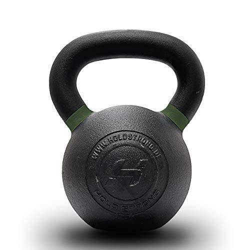 HOLD STRONG Fitness Elite Iron Kettlebell – Gewicht 12 bis 32 kg – HS.RL-EIK - Gusseisen Kettlebell mit Powder-Coating Grifffläche (24)