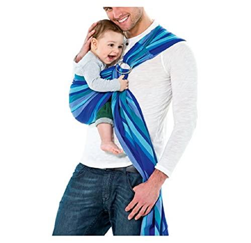 Veova Babytragetuch ohne Knoten Laguna 180 cm 0-3 Jahre bis 15 kg, blau, 600 g