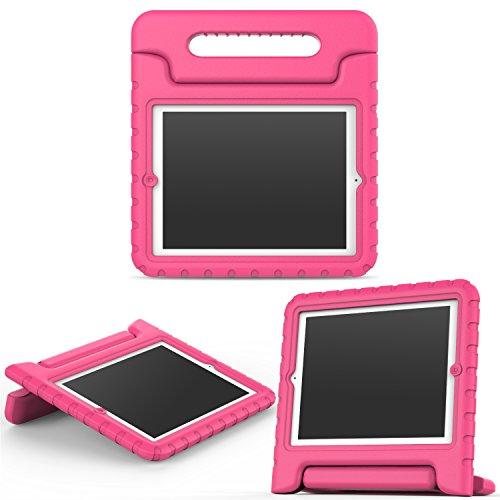 MoKo Hülle für iPad 2/3 / 4 - Superleicht Eva Kids Shock Proof Cover Stoßfest Kindgerechte Schutzhülle für Apple iPad 2/3 / 4 9.7 Zoll Tablet-PC, Magenta