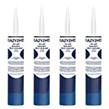 EAZY2HD RV Self Leveling Lap Sealant for RV Roofs,RV Roof Sealant,Camper Caulking, Camper Sealer for Rubber Roof EPDM,White,4 Pack