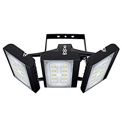 LED Flood Light, STASUN 150W 13500lm Security Lights with Wide Lighting Area, OSRAM LED Chips, 6000K, Adjustable Heads, IP66 Waterproof Outdoor Lighting for Garden, Court, Street, Parking Lot
