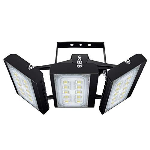 CHICLUX LED Outdoor Leuchte für Garagen, 13500 LM, 6000K (Tageslichtweiß) Sicherheits-Flutlicht, 150W Scheinwerfer mit verstellbarem Kopf für Scheune, Patio, Hof