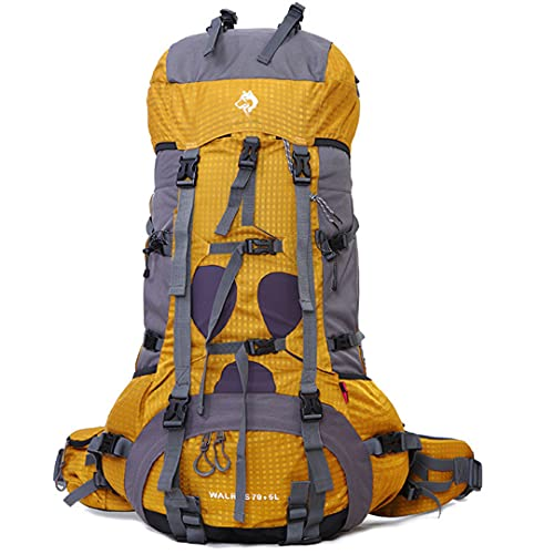 TH&Meoostny Bolsa de montañismo al Aire Libre Profesional Impermeable Nylon Escalada Viaje Camping Mochila de montañismo Yellow Color Other