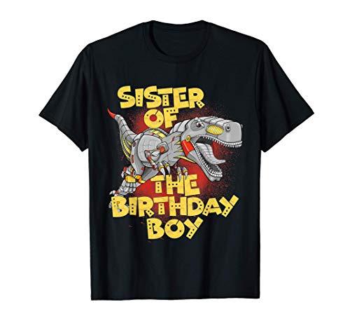 Sister Boy Dinosaur Robot Cyborg T-Rex Matching Camiseta