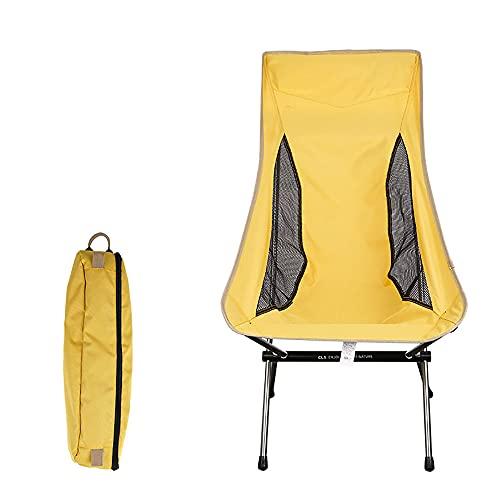 URJEKQ Klappbare Campingstühle Ultraleichte Tragbare Stühle Kompakter Rucksack Mit Tragetasche Zum Angeln Im Freien Wanderstrand,Gelb