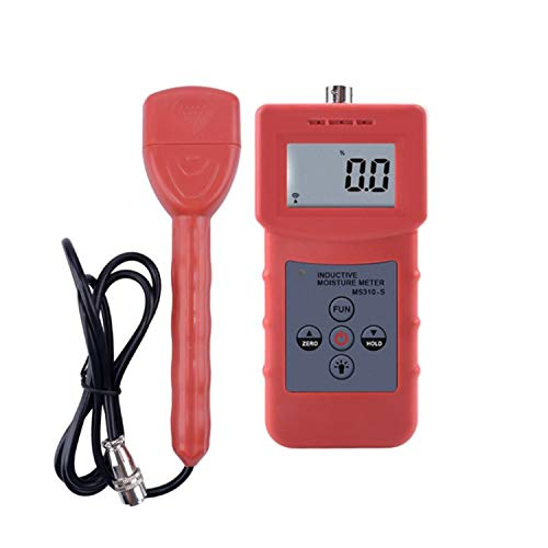 YEZIO Soil Meter MS310-S Moisture Analyzer for Measuring Wood, Carton, Building Materials, Textiles, Hair, Leather, Foam, Chemical Raw Materials Soil Test Kits