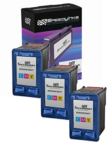 Speedy Inks Remanufactured Ink Cartridge Replacement for HP 57 (Tri-Color, 3-Pack)