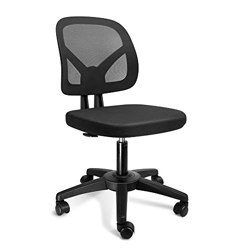 KOLLIEE Armless Mesh Office Chair Ergonomic Comfortable Armless...