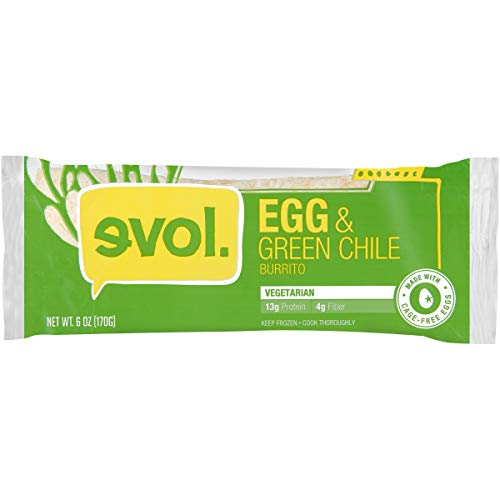EVOL Egg and Green Chile Burrito 13 Grams of Protein Per Serving 6 Ounce Frozen