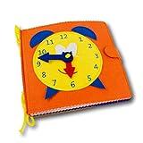 Quiet Book-Libro sensorial de fieltro para el desarrollo de habilidades motoras de los niños pequeños. Libro tela - Libro texturas - Juegos montessori