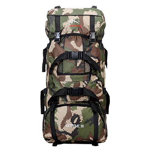 WLP-WF 90L Adjustable Mountaineering Backpack Hiking Camping - Green,Green