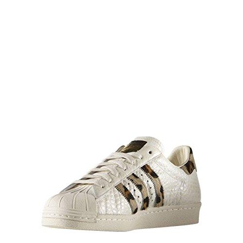 Adidas Superstar 80s Animal, chalk white/chalk white/gold metallic, 13