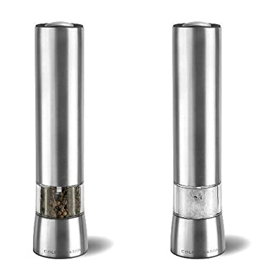 Cole & Mason Hampstead Precision 215 mm Electronic Stainless Steel Pepper Mill with LED Light