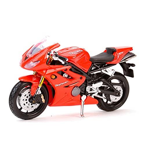 MHDTN El Maquetas Coche Motocross Fantastico 1︰18 para Triumph Daytona 675 Sport Static Die Cast Vehículos Coleccionables Hobbies Motocicleta Expresión De Amor (Color : 2)