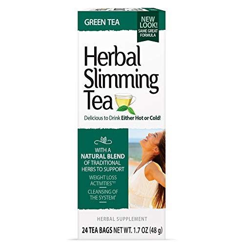 21st Century Slimming Tea, Green Tea, 72 Count