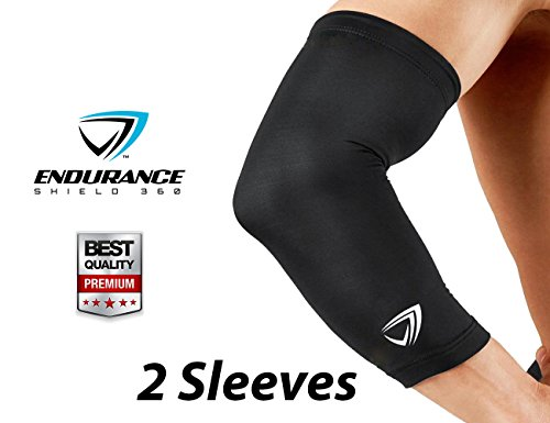 Endurance Shield 360 Compression Elbow Sleeve (2 pcs) - Large - Black