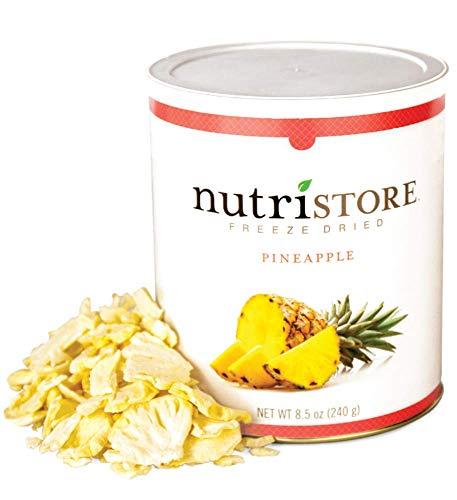 Nutristore Freeze Dried Pineapple | Perfect Healthy Snack | Bulk Fruit Emergency Survival Food Storage | Amazing Taste & Quality | 25 Year Shelf Life