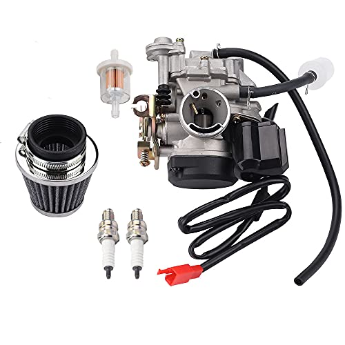 Wetenex GY6 49CC 50CC Carburetor Compatible with 139QMB 139QMA 4 Stroke Dirt Bike Scooter TaoTao Moped ATV Go Kart Engines with Intake Manifold and Air Filter