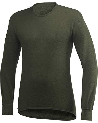 Woolpower Unisex Merinowolle Funktionsshirt Crewneck 200 Langarm, Größe:S, Farbe:Pine Green