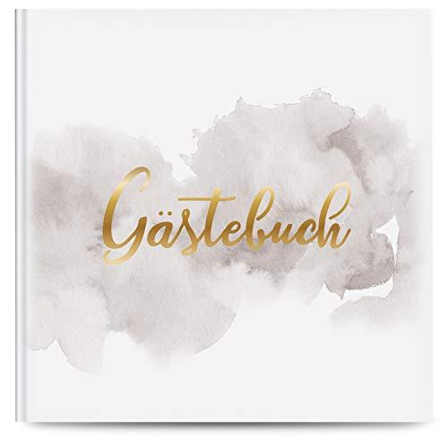 Fairytale Wedding © Gästebuch Hochzeit mit 100 Seiten u. hochwertigem Hardcover - Blanko Hochzeitsgästebuch zum Beschriften o. Bemalen 21,5 x 21,5 cm - Hochzeitsbuch für Gäste als Guestbook
